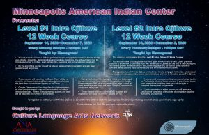 Level #1 Intro Ojibwe 12 Week course @ On-Line